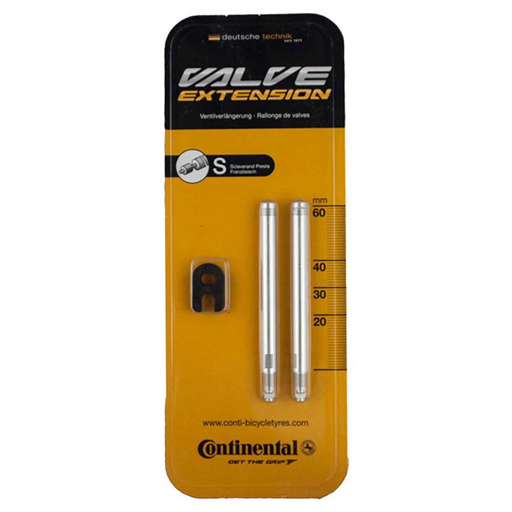 Continental Valve Extension For Presta 60 mm Silver