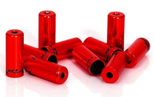Наконечники тормозных рубашек XLC Open Ferrule Ø 5mm red (10 шт.)