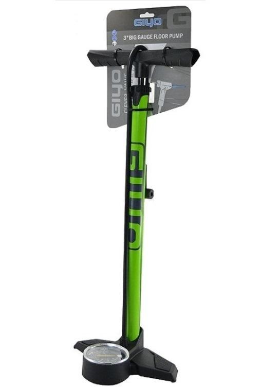 Насос напольный Giyo GF-2530 3″ Big Gauge Floor Pump green