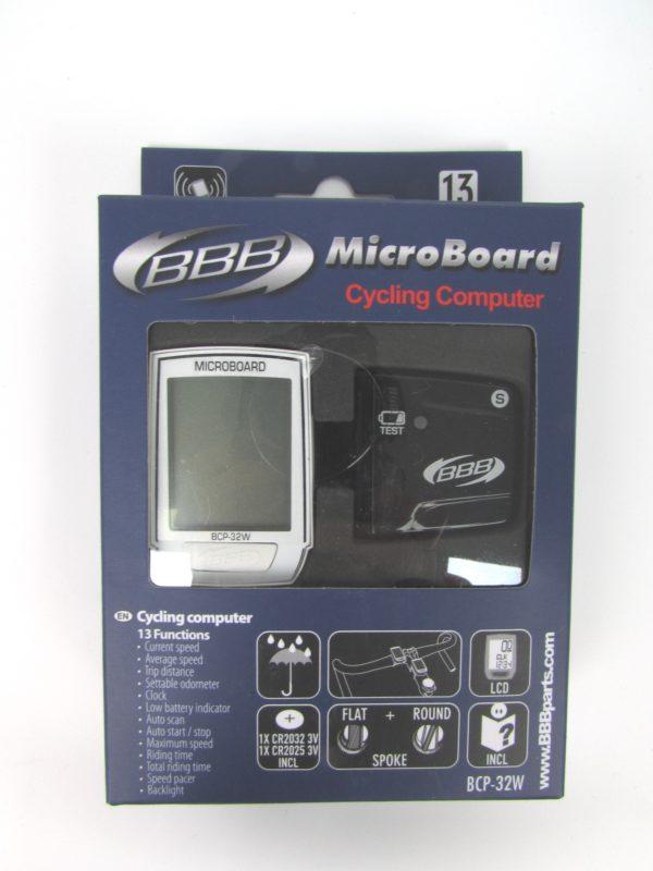 Велокомпьютер BBB BCP-32W MicroBoard Wireless 13F white