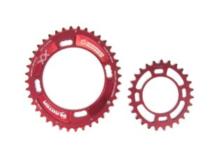 Звезды Rotor Q-Rings 40Т+27Т 4-arm 120/80 BCD Oval