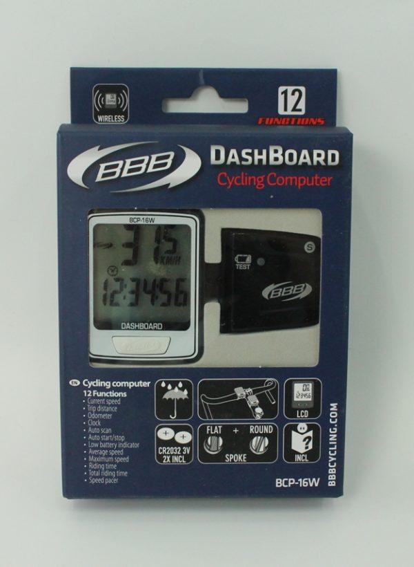 Велокомпьютер BBB BCP-16W DashBoard Wireless 12F white