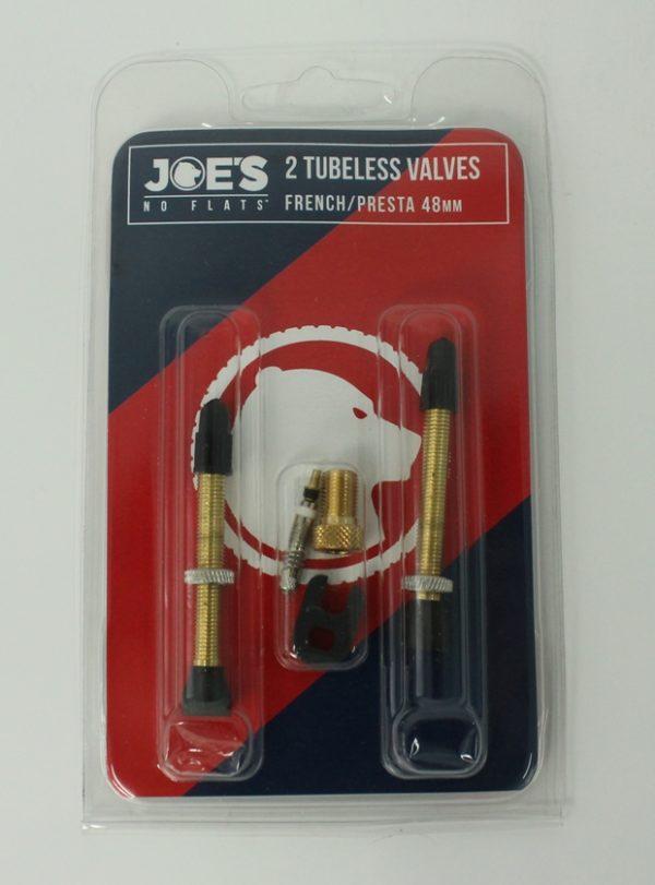 Ниппели Joe's No-Flats 48mm Presta Valve (комплект)