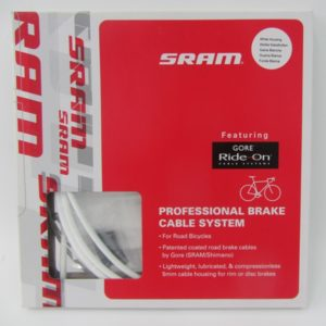 Комплект тормозных тросов с рубашками SRAM Ride-On Professional Brake Cable System – Coated Gore white