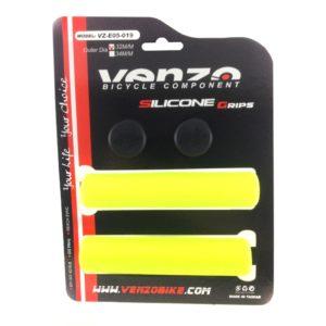 Грипсы силиконовые Venzo Silicone Grips 130×32 mm yellow